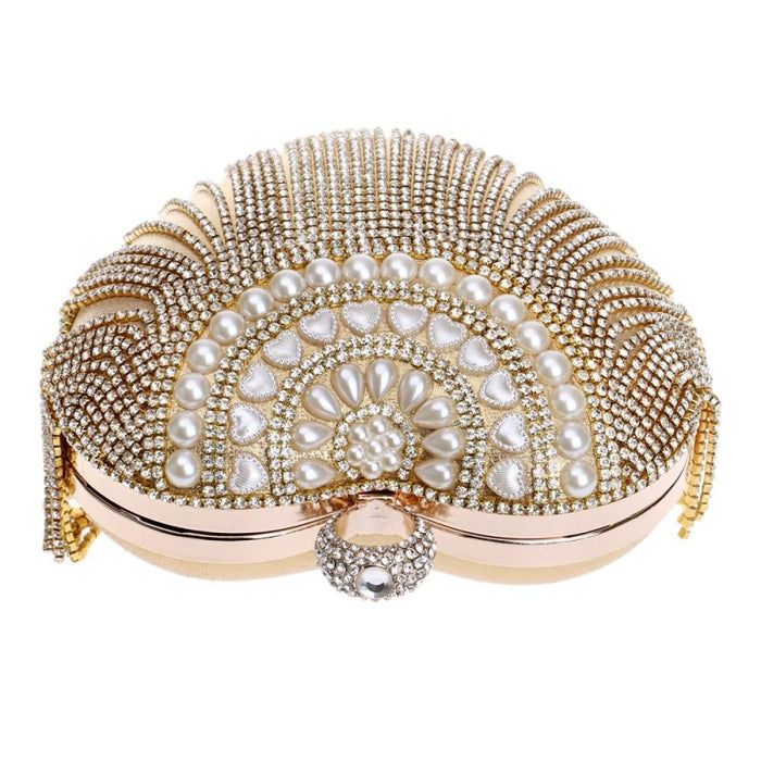 Small Tassel Crystal With Handle Wedding Handbags | Bridelily - wedding handbags