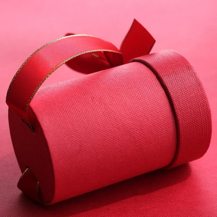 Solid Cylinder With Ribbon Bowknot Favor Holders | Bridelily - favor holders