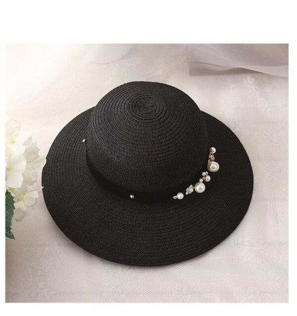 Solid Large Brimmed With Pearl Kentucky Derby Hats | Bridelily - kentucky derby hats