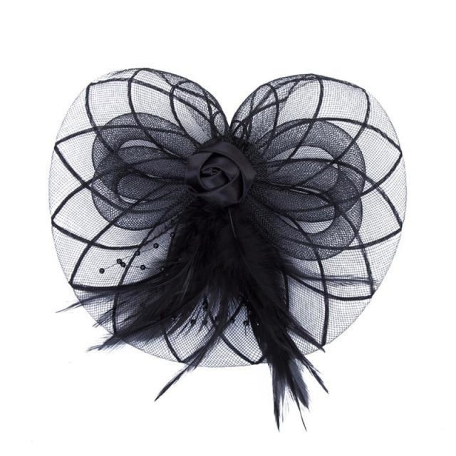 Sombreros Crown Feather Flower Clips Fascinators | Bridelily - fascinators