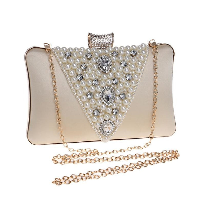 Special V Design Beaded Chain Wedding Handbags | Bridelily - wedding handbags