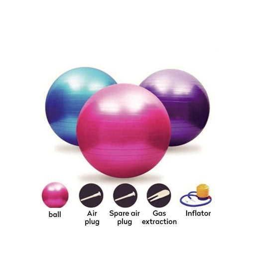Sports Yoga Balls Fitness Balance Ball Exercise Gym Ball New Balance Women With Pump - yoga balls