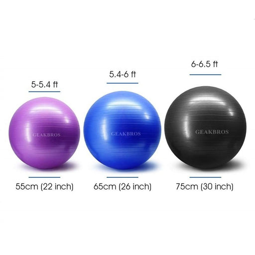 Sports Yoga Balls Pilates Fitness Ball Gym Balance Fitball Exercise Pilates Workout Massage Ball with Pump - yoga balls