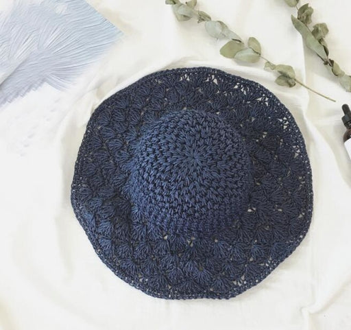 Straw Crochet Hollow Foldable Dome Beach/Sun Hats | Bridelily - beach/sun hats