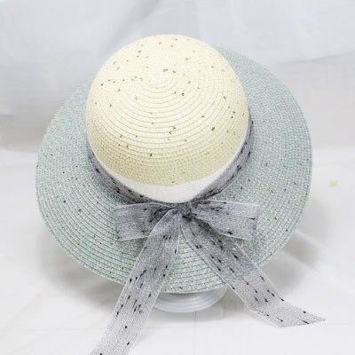 Straw Ribbon Bowknot Wide Brim Bowler/Cloche Hats | Bridelily - bowler/cloche hats