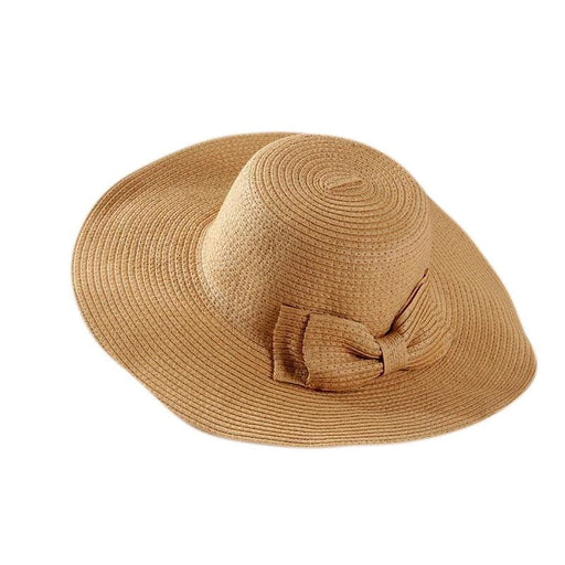 Straw Sun Wide Brim With Big Bowknot Floppy Hats | Bridelily - floppy hats