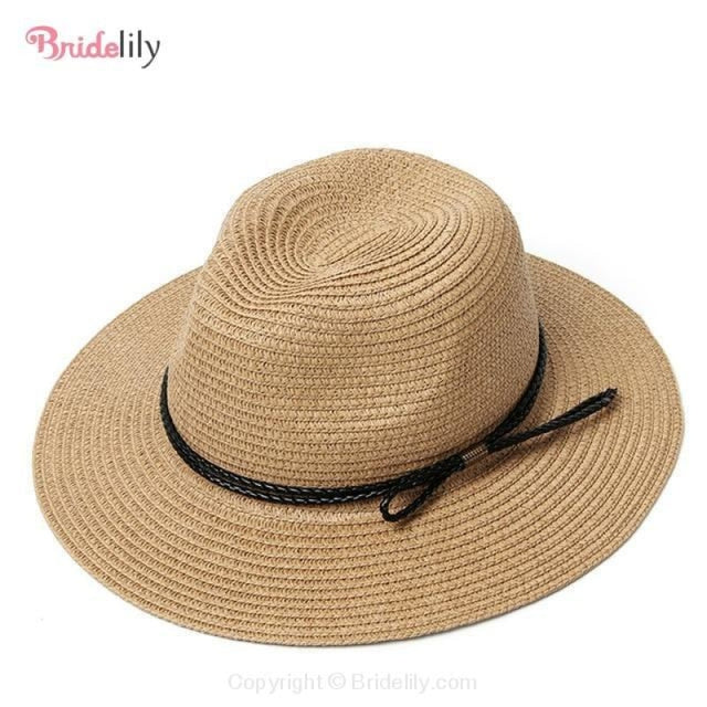 Straw Vacation Wide Brim Casual Beach/Sun Hats | Bridelily - Color 14 - beach/sun hats