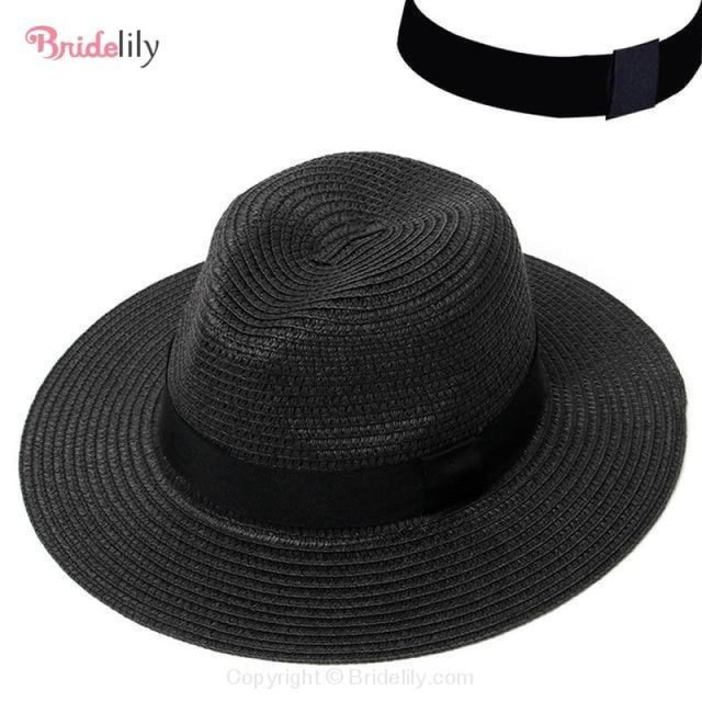 Straw Vacation Wide Brim Casual Beach/Sun Hats | Bridelily - Color 5 - beach/sun hats