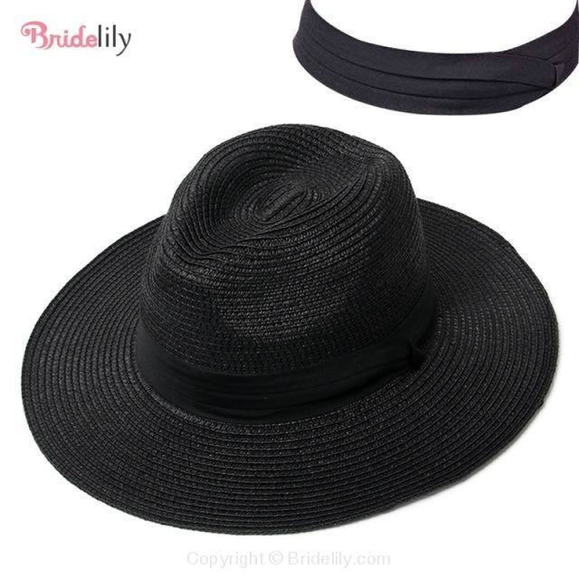 Straw Vacation Wide Brim Casual Beach/Sun Hats | Bridelily - Color 11 - beach/sun hats