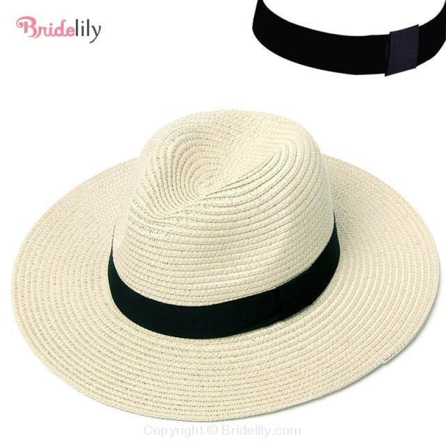 Straw Vacation Wide Brim Casual Beach/Sun Hats | Bridelily - Color 1 - beach/sun hats