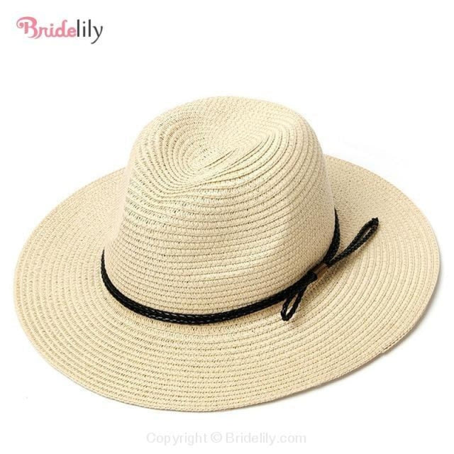 Straw Vacation Wide Brim Casual Beach/Sun Hats | Bridelily - Color 13 - beach/sun hats