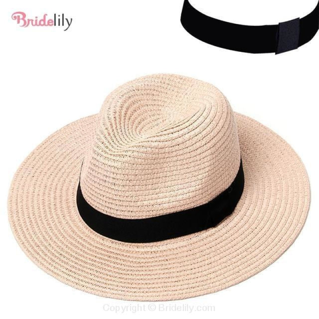 Straw Vacation Wide Brim Casual Beach/Sun Hats | Bridelily - Color 4 - beach/sun hats