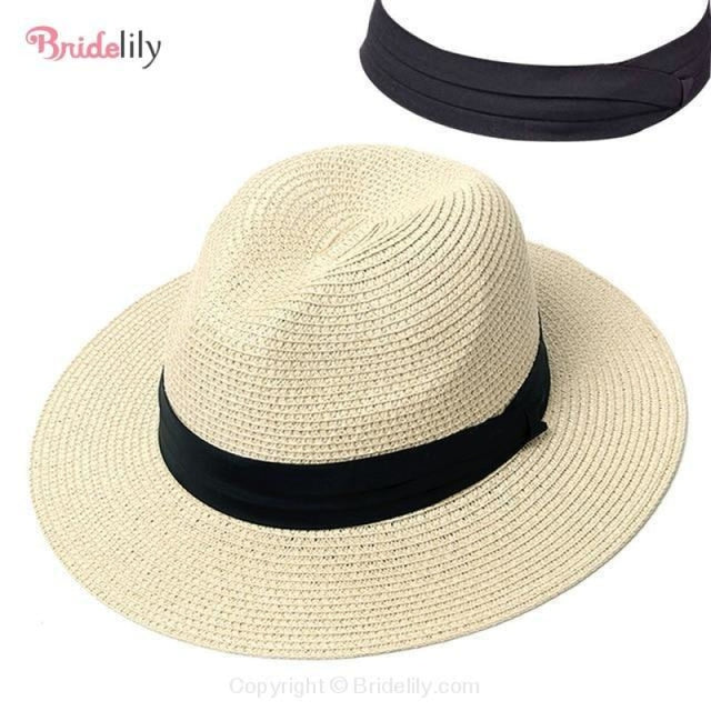 Straw Vacation Wide Brim Casual Beach/Sun Hats | Bridelily - Color 7 - beach/sun hats