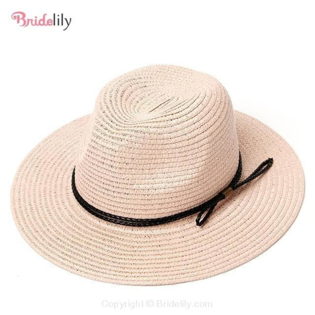 Straw Vacation Wide Brim Casual Beach/Sun Hats | Bridelily - Color 16 - beach/sun hats