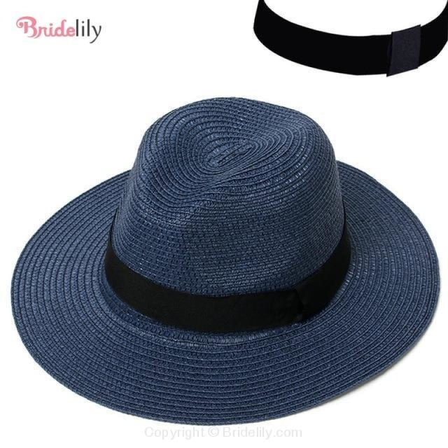 Straw Vacation Wide Brim Casual Beach/Sun Hats | Bridelily - Color 6 - beach/sun hats