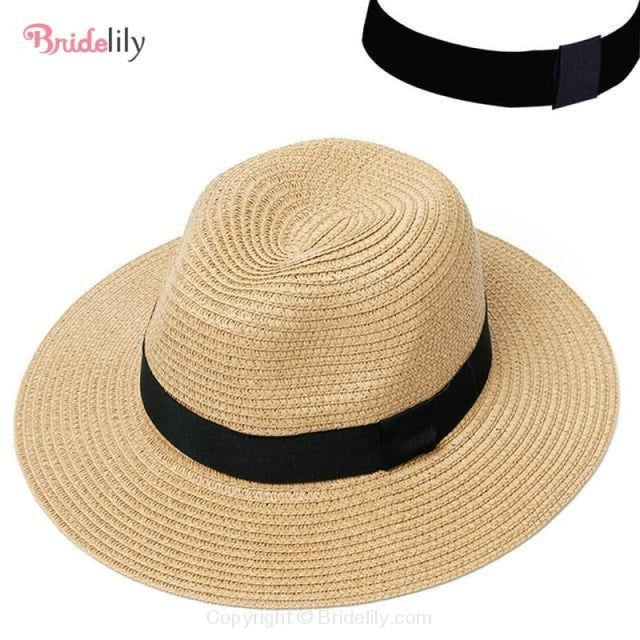 Straw Vacation Wide Brim Casual Beach/Sun Hats | Bridelily - Color 2 - beach/sun hats