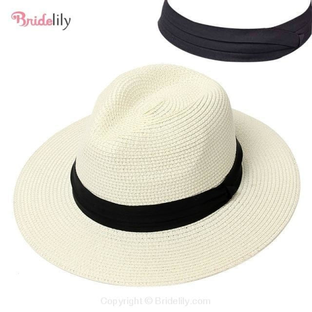 Straw Vacation Wide Brim Casual Beach/Sun Hats | Bridelily - Color 9 - beach/sun hats