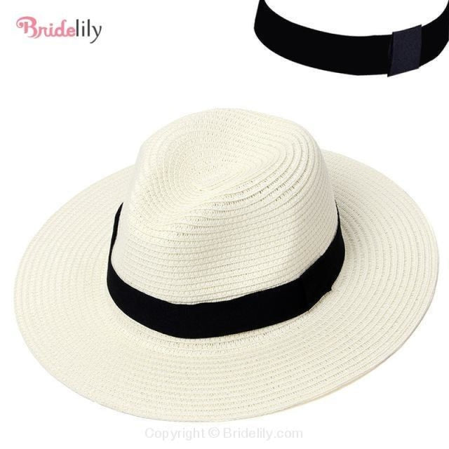 Straw Vacation Wide Brim Casual Beach/Sun Hats | Bridelily - Color 3 - beach/sun hats
