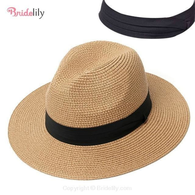 Straw Vacation Wide Brim Casual Beach/Sun Hats | Bridelily - Color 8 - beach/sun hats