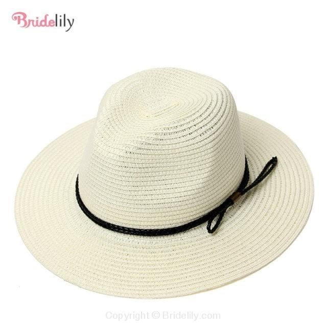 Straw Vacation Wide Brim Casual Beach/Sun Hats | Bridelily - Color 15 - beach/sun hats