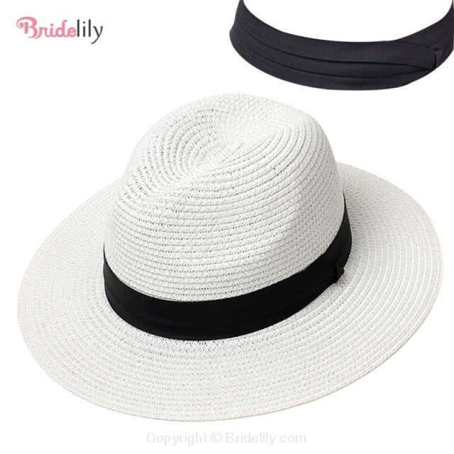 Straw Vacation Wide Brim Casual Beach/Sun Hats | Bridelily - Color 10 - beach/sun hats