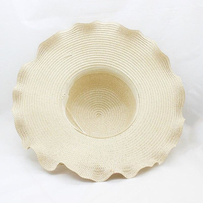 Straw Woven Large Brim Flowers Beach/Sun Hats | Bridelily - beach/sun hats