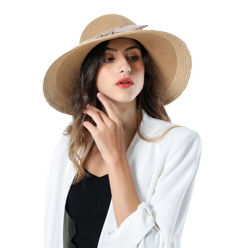 Sun Elegant Casual Wide Brim Bowknot Straw Hats | Bridelily - straw hats