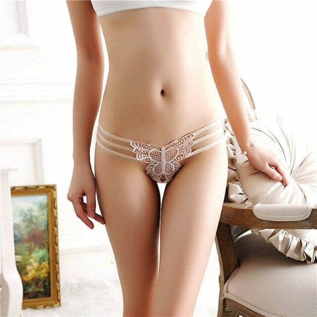 Super Bandage String Lace High Quality Panties | Bridelily - Beige / One Size / 1pc - panties