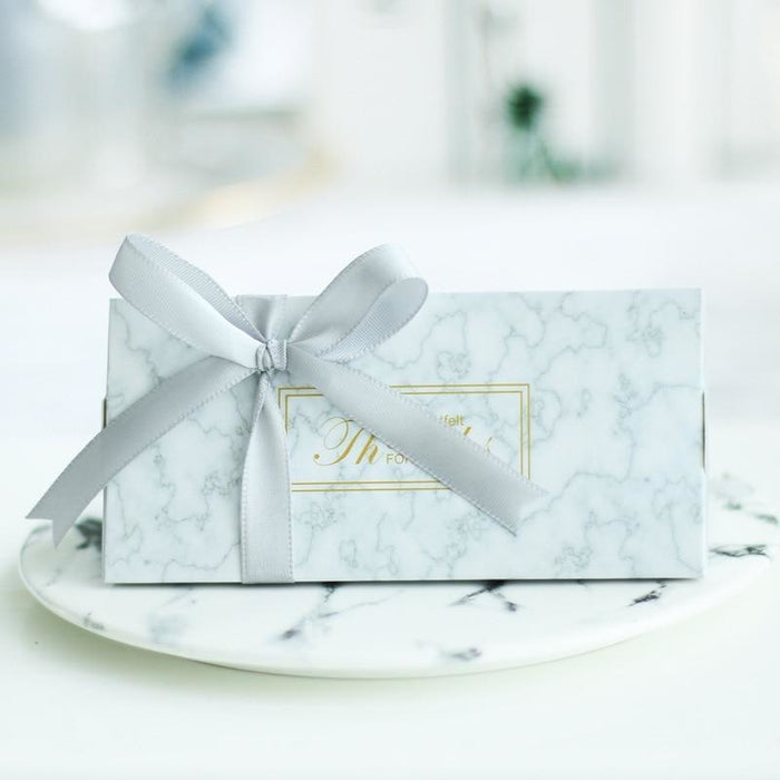 Sweet Marble With Ribbon Handle Favor Holders | Bridelily - favor holders