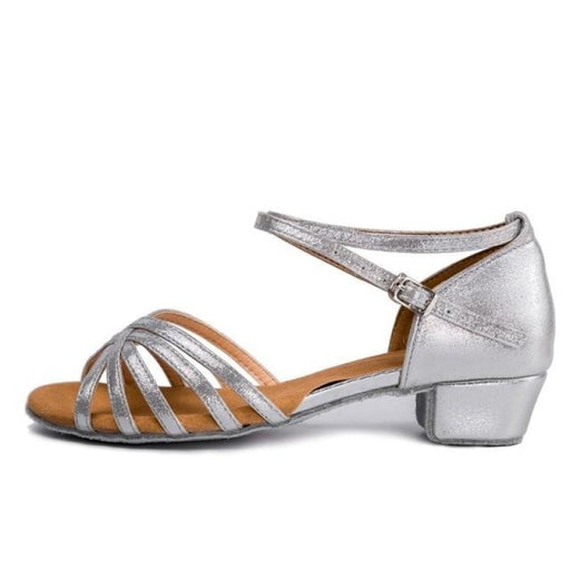Tango Gliitered Low Heel Ballroom Dance Shoes | Bridelily - ballroom dance shoes