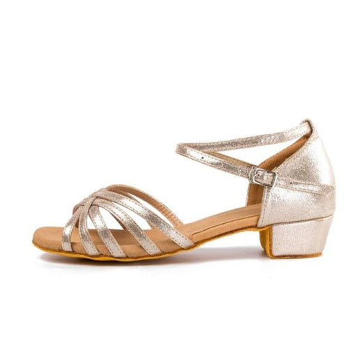 Tango Gliitered Low Heel Ballroom Dance Shoes | Bridelily - as picture 12 / 6 - ballroom dance shoes