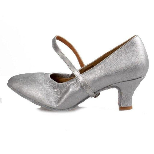 Tango PU Modern Salsa Ballroom Dance Shoes | Bridelily - Silver 7cm / 3.5 - ballroom dance shoes