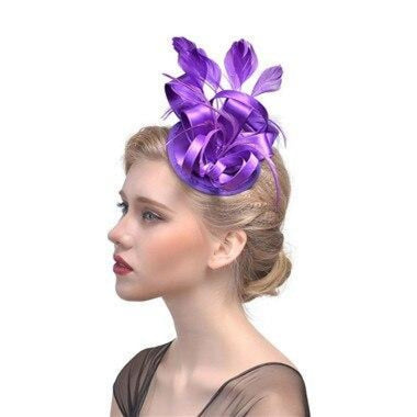 Top Cap Fabric Feather Floral Clips Fascinators | Bridelily - 3 - fascinators