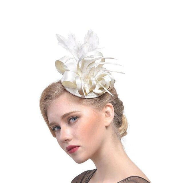 Top Cap Fabric Feather Floral Clips Fascinators | Bridelily - 6 - fascinators
