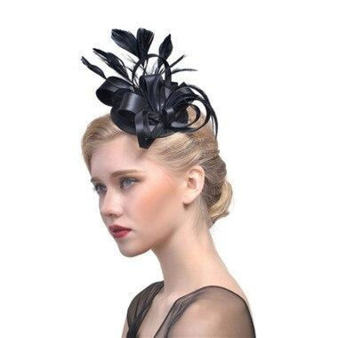 Top Cap Fabric Feather Floral Clips Fascinators | Bridelily - 4 - fascinators