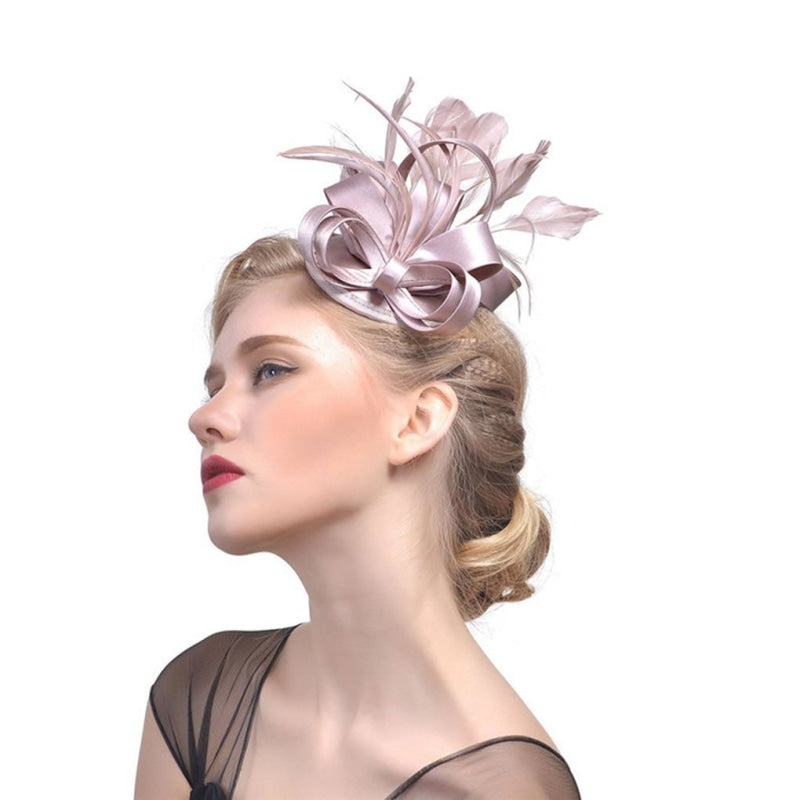 Top Cap Fabric Feather Floral Clips Fascinators | Bridelily - 5 - fascinators