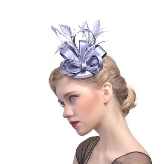 Top Cap Fabric Feather Floral Clips Fascinators | Bridelily - 7 - fascinators