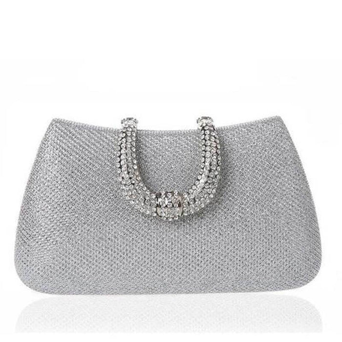 Unique U Shape Diamond Clasp Wedding Handbags | Bridelily - wedding handbags