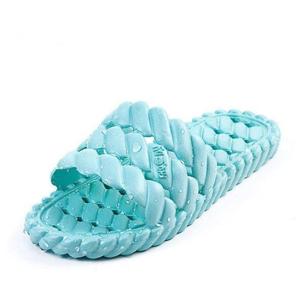Unisex EVA Pure Color Summer Soft Sole Indoor Home Shoes Slippers - home shoes