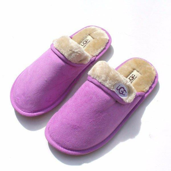 Unisex Folded Pure Color Slip On Indoor Flat Home Shoes - Purple / 5.5/6 - home shoes