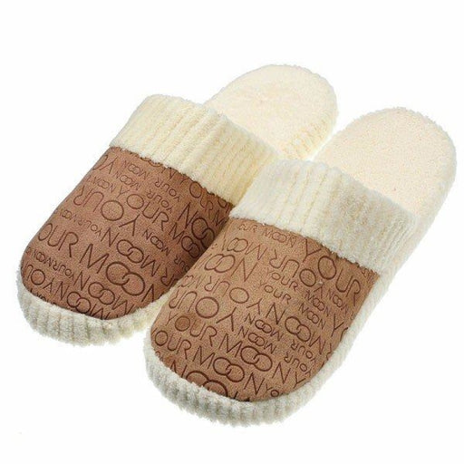 Unisex Letter Indoor Slip On Flat Home Shoes - home shoes