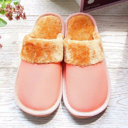 Unisex Pure Color Folded Slip On Indoor Flat Home Shoes - home shoes