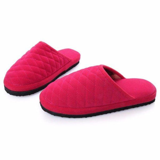 Unisex Simple Pure Color Slip On Indoor Flat Home Shoes - home shoes