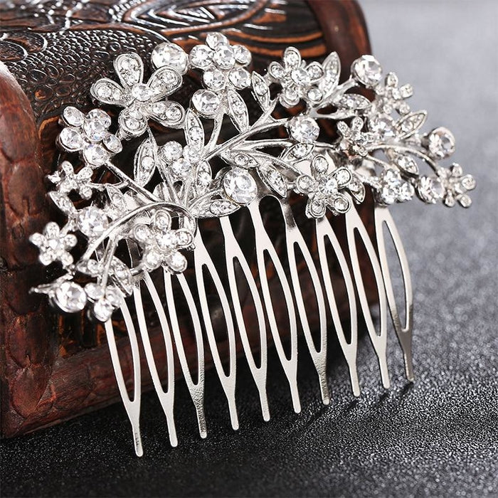 Vintage Clear Rhinestone Crystal Combs & Barrettes | Bridelily - combs and barrettes