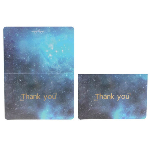 Vintage Marble Side Fold Thank you Cards(50PCS) | Bridelily - 2 - thnak you cards
