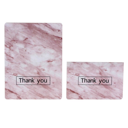 Vintage Marble Side Fold Thank you Cards(50PCS) | Bridelily - 1 - thnak you cards