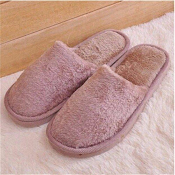 Warm For Woman Home House Floor Soft Plush Slippers - Brown / US 5 - home shoes