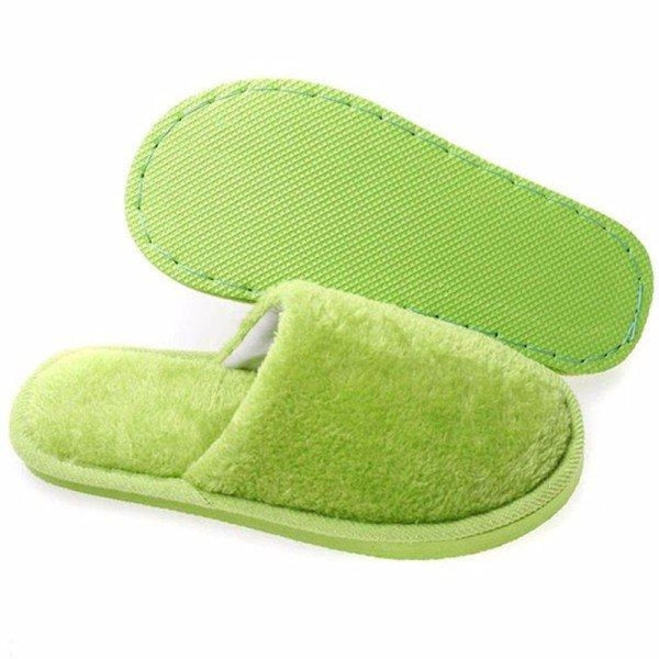 Warm For Woman Home House Floor Soft Plush Slippers - home shoes