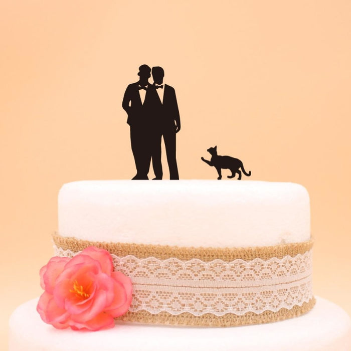 Wedding Accessory Acrylic Gay Cake Toppers | Bridelily - cake toppers