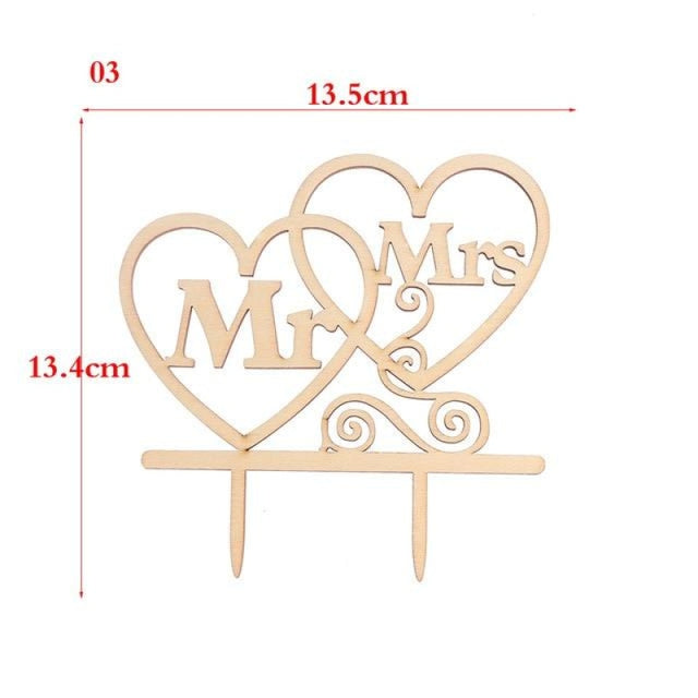 Wedding Cake Topper Laser Cut Cake Toppers | Bridelily - 3 - cake toppers